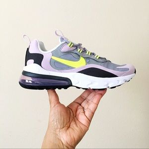 Nike Air Max 270 React Grey Lilac Volt